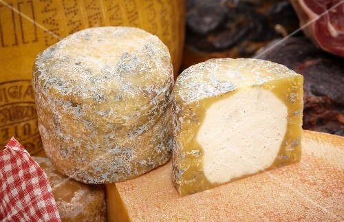 Graukäse ('grey cheese'), whole and halved