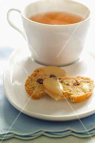 Biscotti with a cup of tea