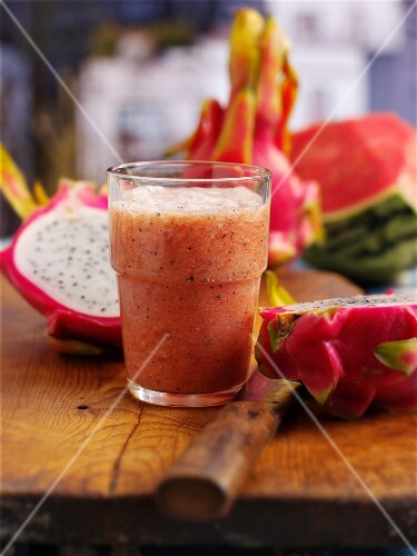 Dragon fruit and watermelon smoothie