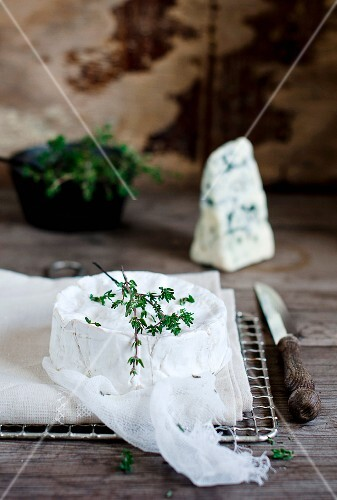 Camembert and Roquefort with thyme