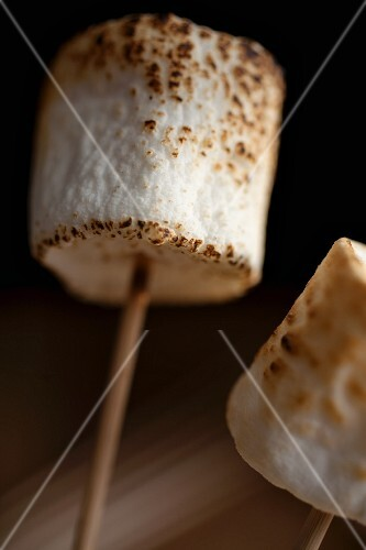 Toasted marshmallow on a skewer