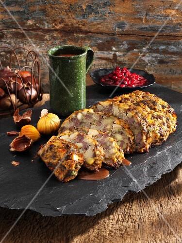 Venison meatloaf with quinces