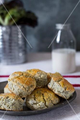 Poppy-seed scones