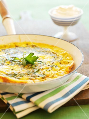 Herbed Frittata in a Skillet
