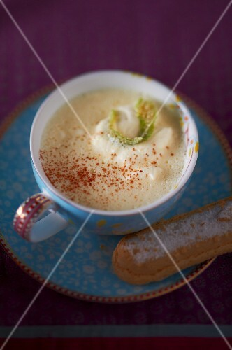 A cup of hot chocolate (white chocolate)