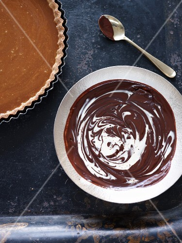 Chocolate torte with ganache