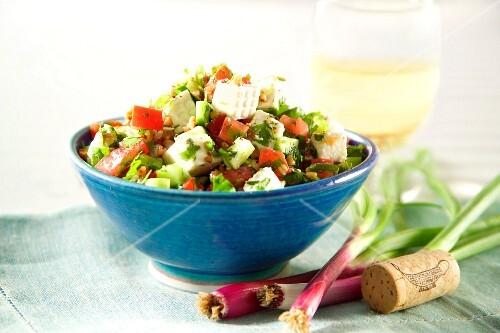Greek salad with sheep's cheese