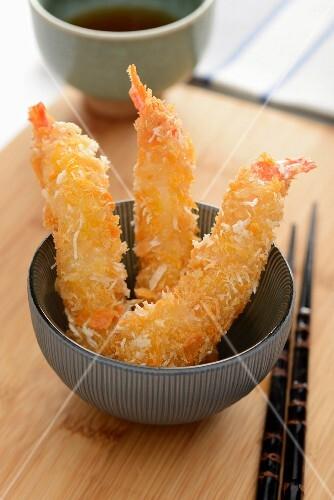 Deep-fried coconut prawns (Japan)