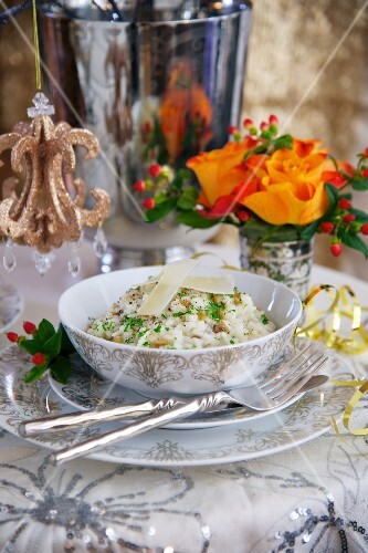 Chestnut risotto for New Year's Eve