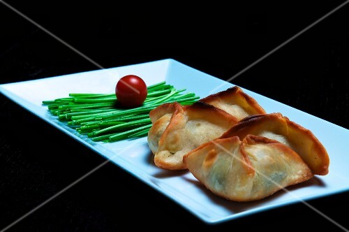 Sambusak (stuffed pastry parcels, North Africa)
