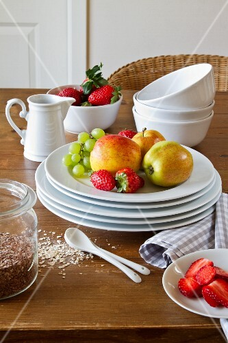 Fresh fruit and cereal grains