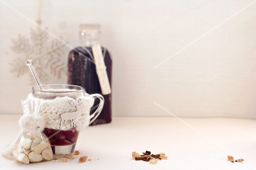 Glögg (mulled wine with spices and vodka, Sweden)