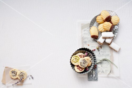 Sable biscuits, madeleines and parisiennes (France)