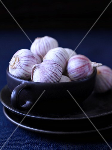 Two Garlic Bulbs; One Broken