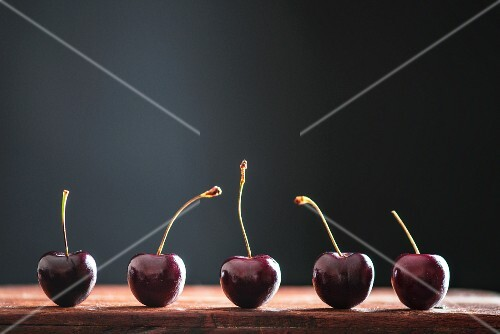 Five cherries in a row