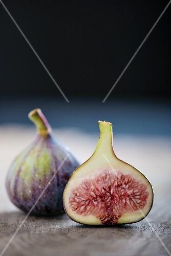 Fresh Fig Cut in Half
