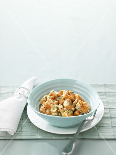 Potato gnocchi with Stilton sauce