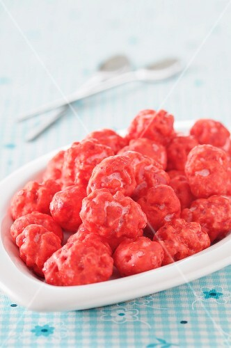 Lots of raspberry pink pralines