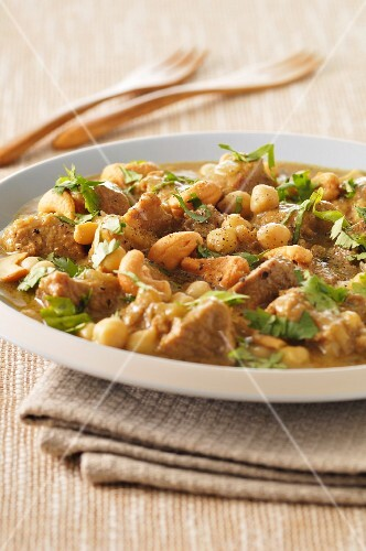 Veal curry with chickpeas