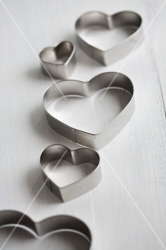 Several heart-shaped cutters