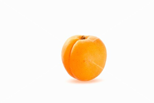 An apricot against a white background