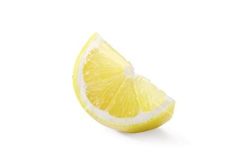 A wedge of lemon