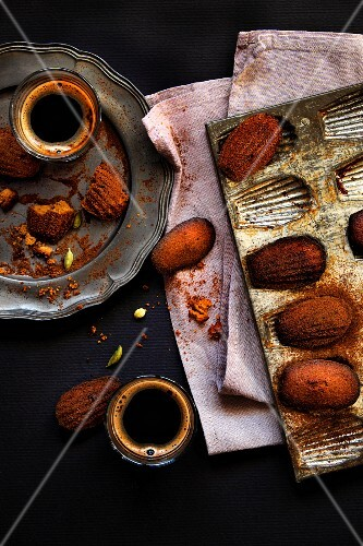 Assorted Madelines with Coffee