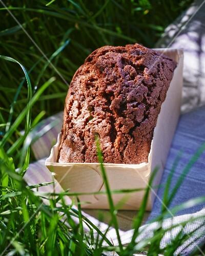 A small chocolate loaf cake