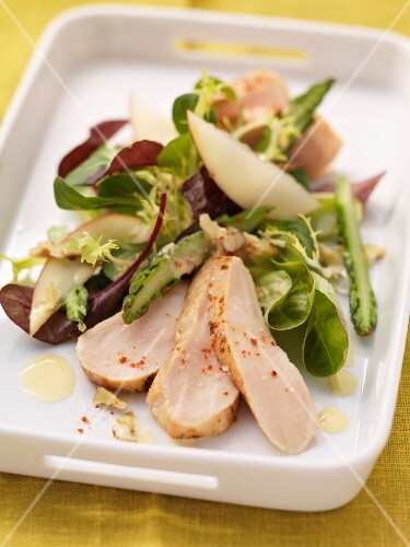 Chicken breast on a winter salad