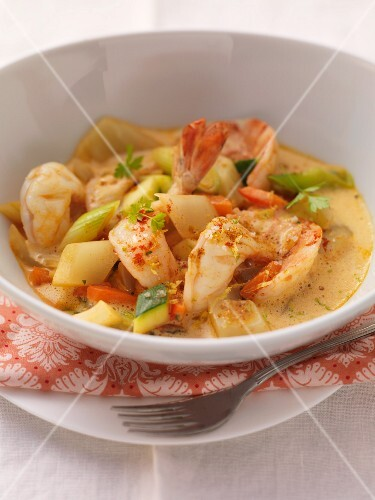 Prawn curry with fennel