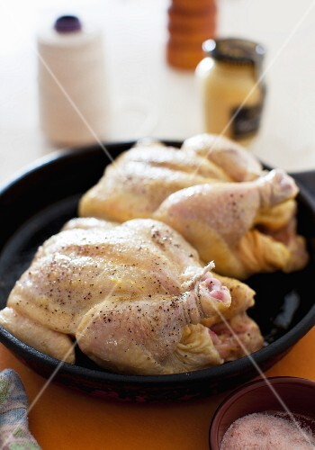 Two Game Hens in a Roasting Pan