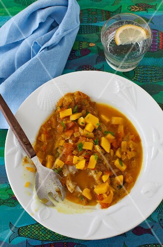 Pan Fried Basa with Tomato Mango Sauce