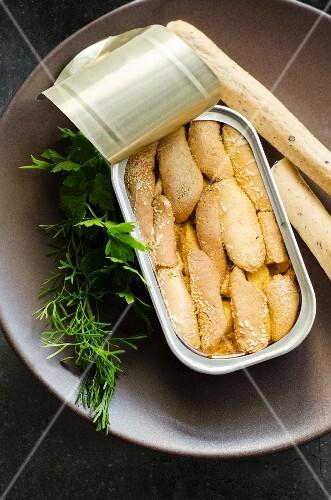 Sardine fillet in a tin