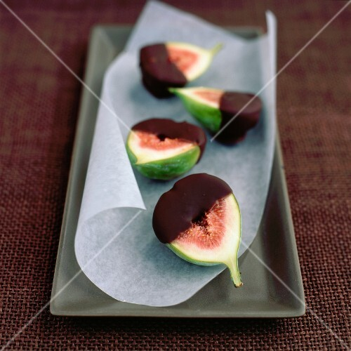 Chocolate Dipped Figs