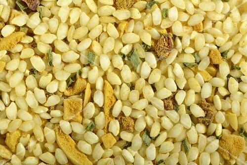 A ready-made risotto mix with almonds, curry and barberries