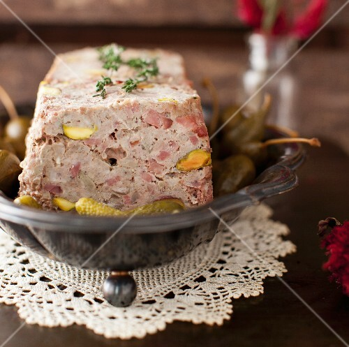 Meat terrine with pistachios