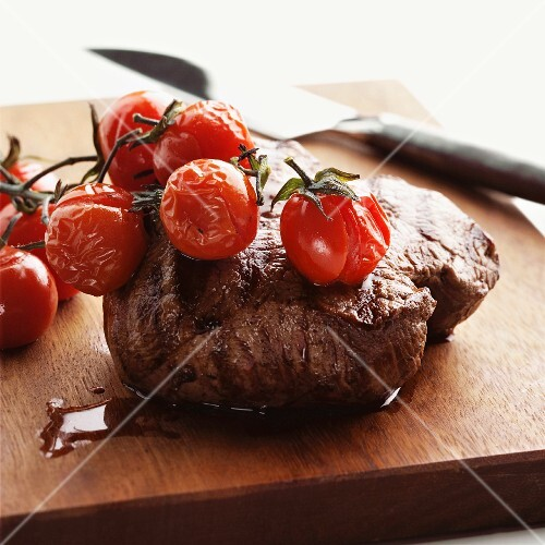 Fillet Steak and Cherry Tomatoes
