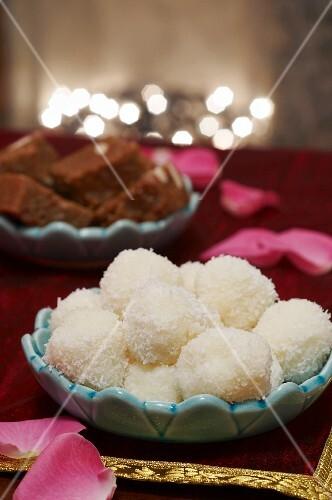 Indian Christmas coconut balls