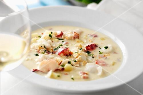 Cod and Lobster Chowder