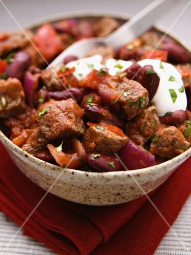 Chili con Carne mit Rindfleischstücken