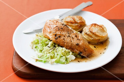 Chicken breast with potato gratin