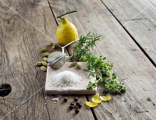 Salt, herbs and spices