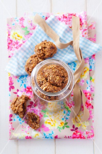 Oat biscuits in a jar