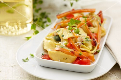 Tortellini with carrots