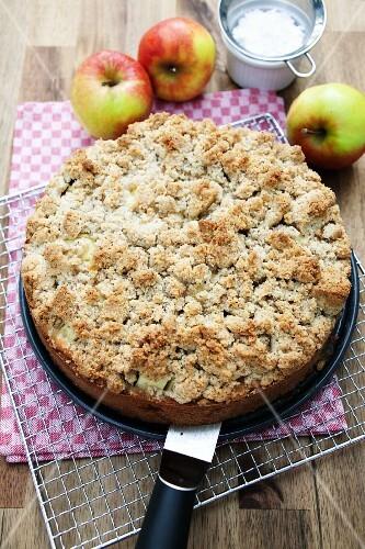 Apple cake with strudel