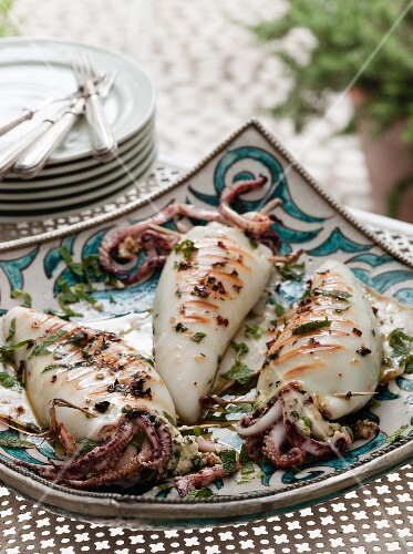Stuffed Squid with Feta and Herbs
