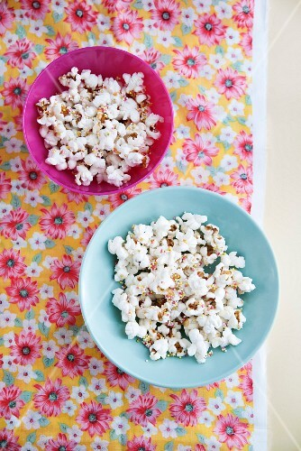 Popcorn in small bowls