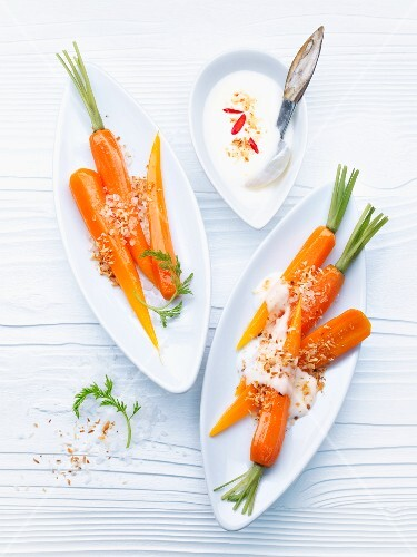Carrots with coconut sauce