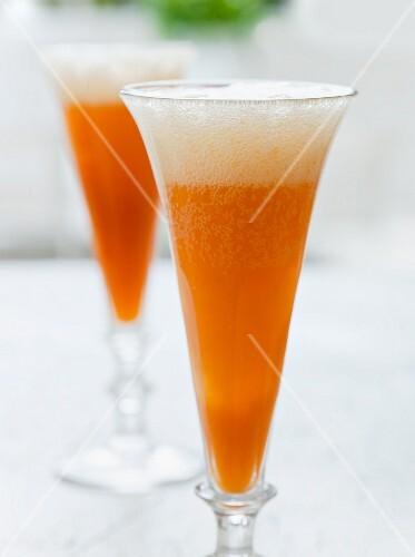 Rhubarb and orange Bellini