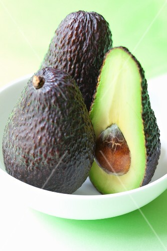 Avocado, whole and half